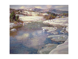 Valley Stream in Winter Giclee Print by George Gardner Symons