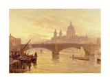 Southwark Bridge Giclee Print by Herbert Menzies Marshall