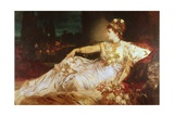 Charlotte Wolter as the Empress Messalina Giclee Print by Hans Makart