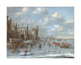 Winter Scene Giclee Print by Thomas Heeremans