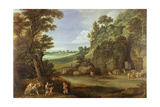 Arcadian Landscape with Satyrs and Nymphs Giclee Print by Paul Brill Or Bril