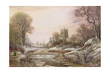 Worcester from the South West in the Snow, C.1875 Giclee Print by Charles Leaver