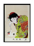 Shin Bijin (True Beauties) Depicting a Woman Playing with a Kitten, from a Series of 36, Modelled… Giclee Print by Toyohara Chikanobu