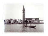 View of the Church of San Martino on the Island of Burano from the Lagoon Giclee Print