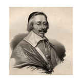 Portrait of Armand Jean Du Plessis, Cardinal and Duke of Richelieu (1585-1642) Giclee Print