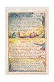 My Pretty Rose Tree; Ah! Sunflower; the Lilly: Plate 43 from Songs of Innocence and of Experience… Giclee Print by William Blake