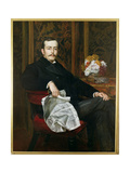 Portrait of Sir Francis Layland-Barratt (B.1860) Giclee Print by Valentine Cameron Prinsep