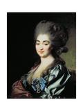 Portrait of Princess Praskovia Nikolayevna Repnina (1756-84) 1781 Giclee Print by Dmitri Grigor'evich Levitsky