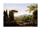 View of Hadrian's Villa Near Rome Giclee Print by Fedor Mikhailovich Matveev