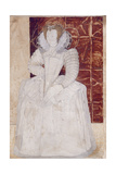 Pd.209-1961 Portrait of an Unknown Lady, C.1595 Giclee Print by Nicholas Hilliard