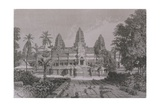 Lib324H Main Facade of Angkor Wat, Book Illustration from 'A Journey of Exploration in… Giclee Print by Emile Theodore Therond