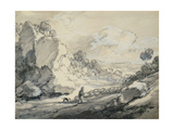 A Shepherd and His Flock, 1775 Giclee Print by Thomas Gainsborough