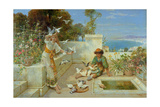 Children by the Mediterranean Giclee Print by William Stephen Coleman