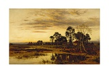 When Sun Is Set: a Worcestershire Village, 1892 Giclee Print by Benjamin Williams Leader