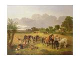 Resting Plough Team Giclee Print by John Frederick Herring I
