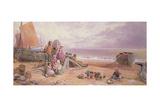 Rottingdean, Beach Scene Giclee Print by Myles Birket Foster