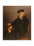 Portrait of an Old Man with a Book, Possibly Giovan Battista Seradobati, an Italian Notary, Post… Giclee Print by Giovanni Battista Moroni