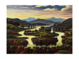 Landscape (Possibly New York State) C.1850 Giclee Print by Thomas Chambers