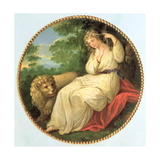 Una and the Lion, the Design Taken from an Engraving of 1783 by Thomas Burke (1749-1815) after… Giclee Print by George Brookshaw