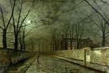 John Atkinson Grimshaw - Silver Moonlight, 1880 Digitálně vytištěná reprodukce