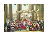 The Papal Procession on the Feast of Corpus Christi, Engraved by Francois Alexandre Villain… Giclee Print by Antoine Jean-Baptiste Thomas