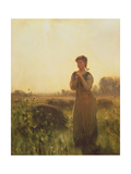 The Farm Girl Giclee Print by Arthur Hacker