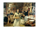 The Market Place Giclee Print by Victor Gabriel Gilbert