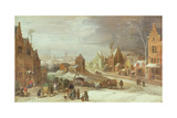 The Outskirts of Antwerp in Winter Giclee Print by  Joos de Momper and Jan Brueghel
