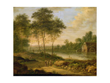 Landscape with a Mill Giclée-Druck von Johann Christian Vollerdt Or Vollaert
