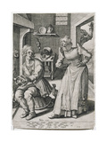 The Scold Giclee Print by Jacques II de Gheyn