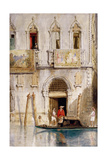 The Steps of the Palazzo Foscari, Venice, 1844 Giclee Print by James Holland