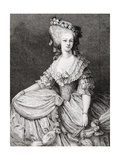 Portrait of Marie Therese Louise, Princesse De Lamballe (1749-92) Engraved by Stephane Pannemaker… Giclee Print by Eugene Joseph Viollat