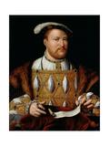 Henry VIII (1491-1547) Giclée-Druck von Joos Van Cleve