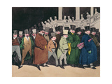 Leaving the Office at 4 O'Clock, C.1830 Giclee Print by Henri Bonaventure Monnier