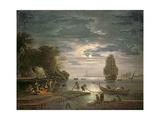The Night Giclée-Druck von Claude Joseph Vernet