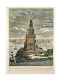 The Marble Watch Tower or Lighthouse Erected by Ptolemy Soter on the Island of Pharos, Near the… Giclée-Druck