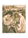 Study for 'The Bower Meadow', 19th Century Giclee Print by Dante Gabriel Rossetti
