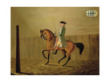 Gentleman on a Bay Horse in a Riding School, 1766 Giclee Print by Thomas Parkinson