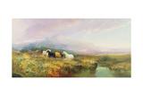 Ponies on Dartmoor Giclee Print by William Widgery