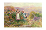 Blackberry Gatherers Giclee Print by Henry John Yeend King