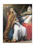 St. Gregory Giclee Print by Andrea Sacchi