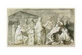 Ancient Sacrifice Giclee Print by Luis Paret y Alcazar