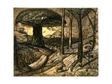 Samuel Palmer - Early Morning, 1825 Digitálně vytištěná reprodukce