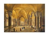Haghia Sophia, Plate 12: the Meme Gallery in the South West Corner, Engraved by Louis Haghe… Giclee Print by Gaspard Fossati