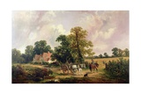 Essex Landscape with Horse and Cart Giclee Print by James Edwin Meadows