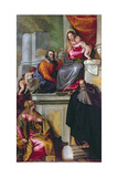 The Holy Family with St. John the Baptist, St. Anthony Abbot and St. Catherine, 1551 Giclee Print by Paolo Veronese