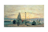 The Jetty at Trouville: Sunset, 1864 Giclee Print by Eugène Boudin