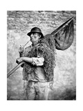 Portrait of a Fisherman Carrying His Nets Giclee Print by Carlo Naya