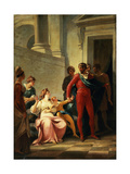 Leonites Taking His Son Mamilius Away from His Mother, Act I, Scene II, from 'A Winter's Tale' by… Giclee Print by William Hamilton