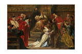 Cordelia in the Court of King Lear, 1873 Giclee Print by Sir John Gilbert
